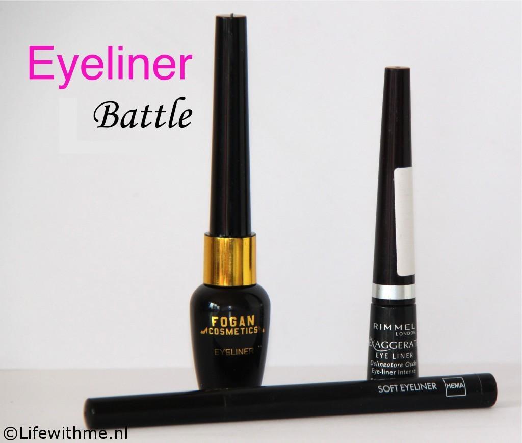 Eyeliner battle samen