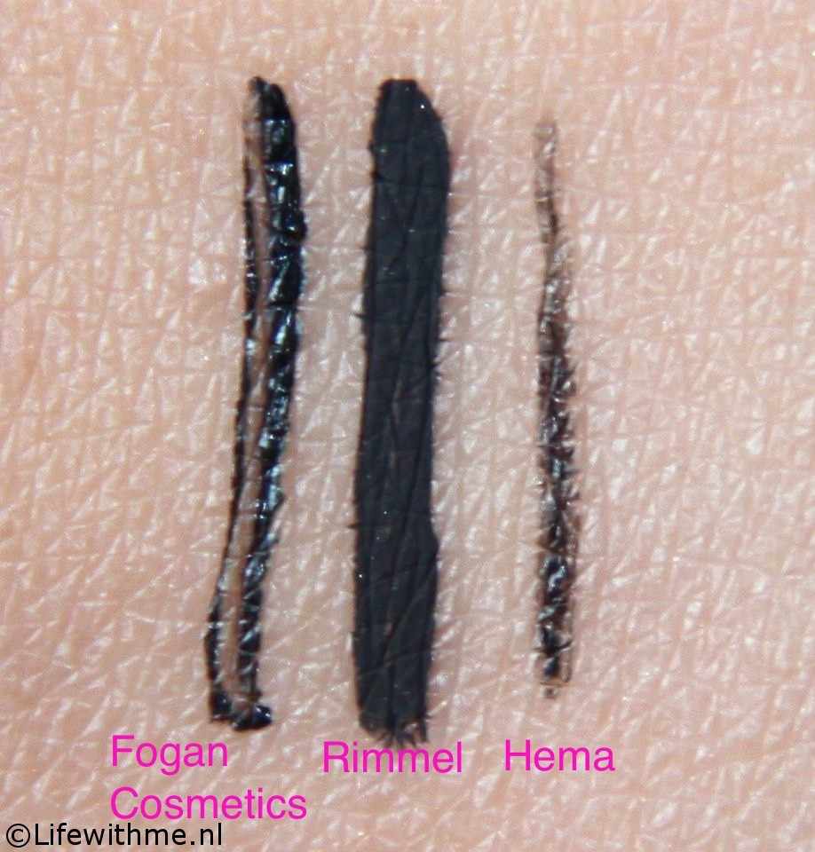 Eyeliner battle swatches