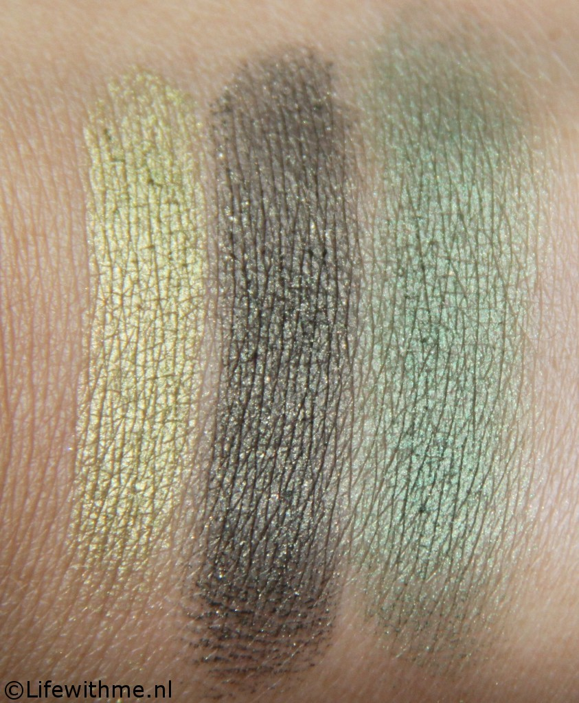 Wet 'n Wild green moss swatches