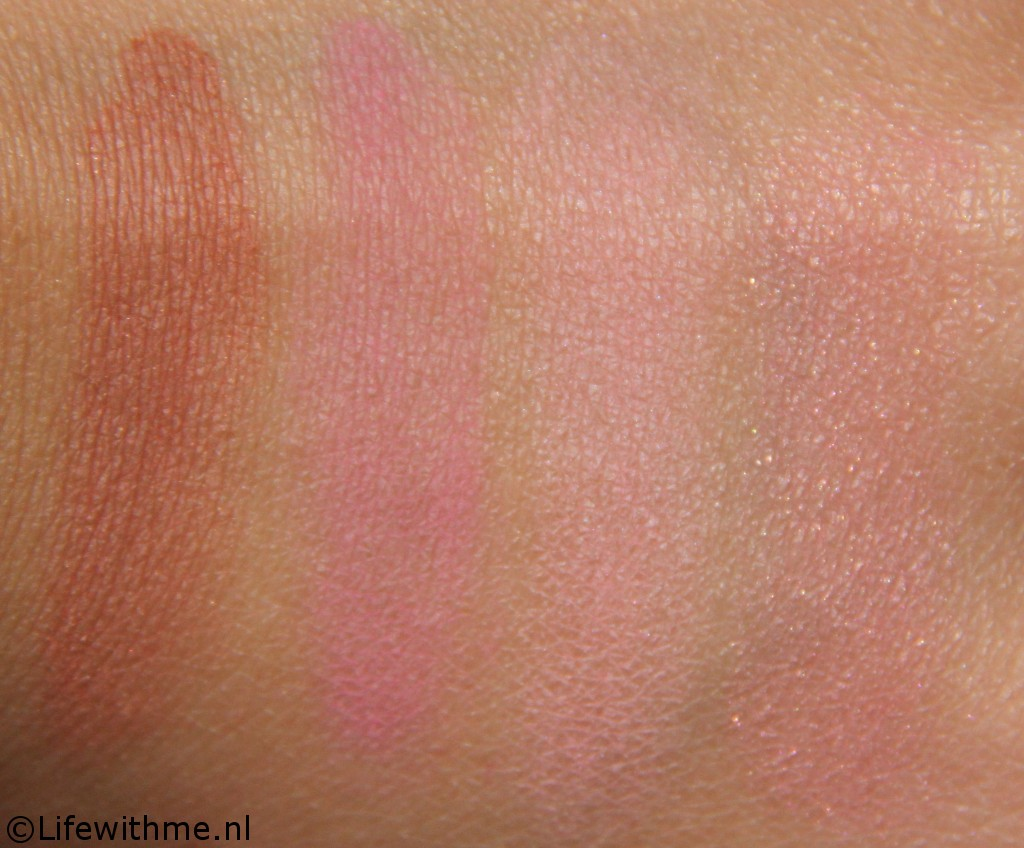 Mac stash blushes swatches