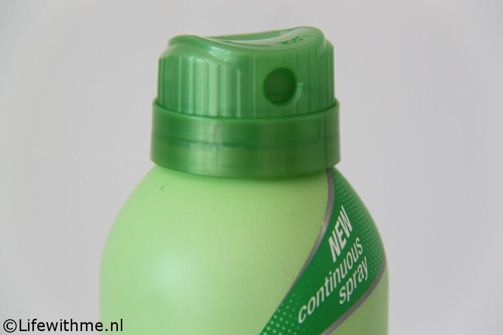 Vaseline Spray & Go moisturizer kop dicht