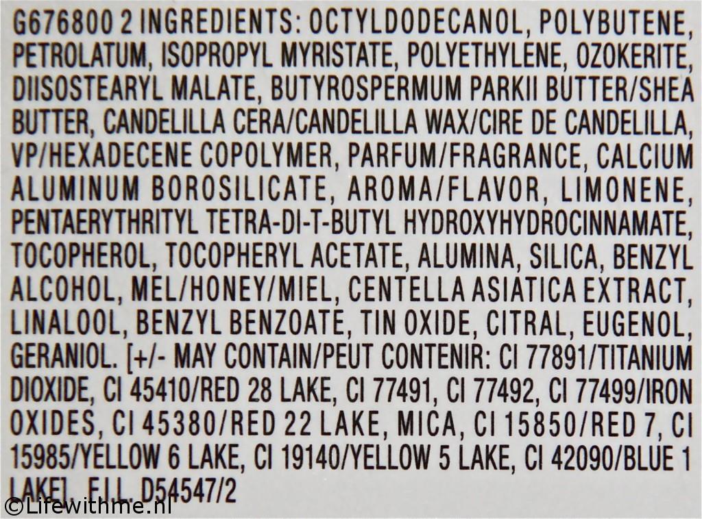 Maybelline baby lips cherry me ingredienten