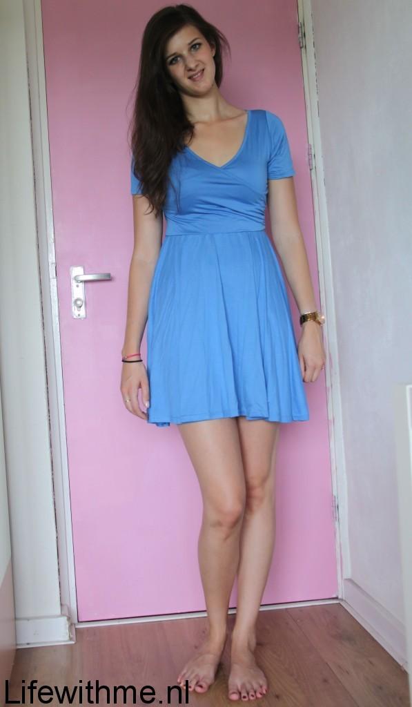 Boohoo jurkje blauw 2