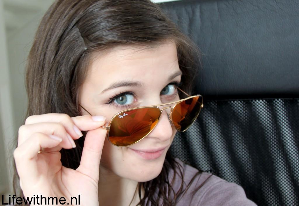 Aviator flash orange zonnebril
