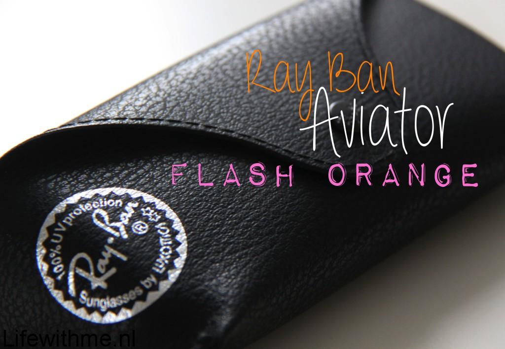 Ray Ban flash orange hoes